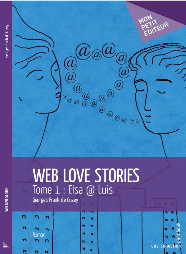 couverture de web love stories à paraitre chez mon petit éditeur
