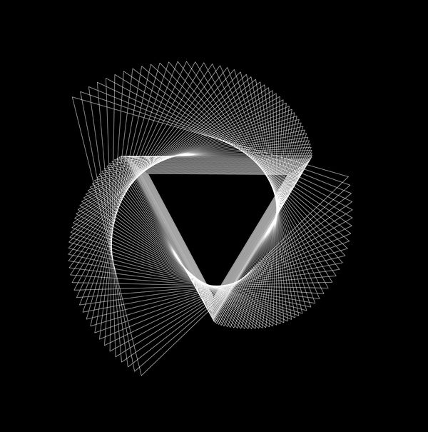 Evolution d'un triangle - piano à dessiner